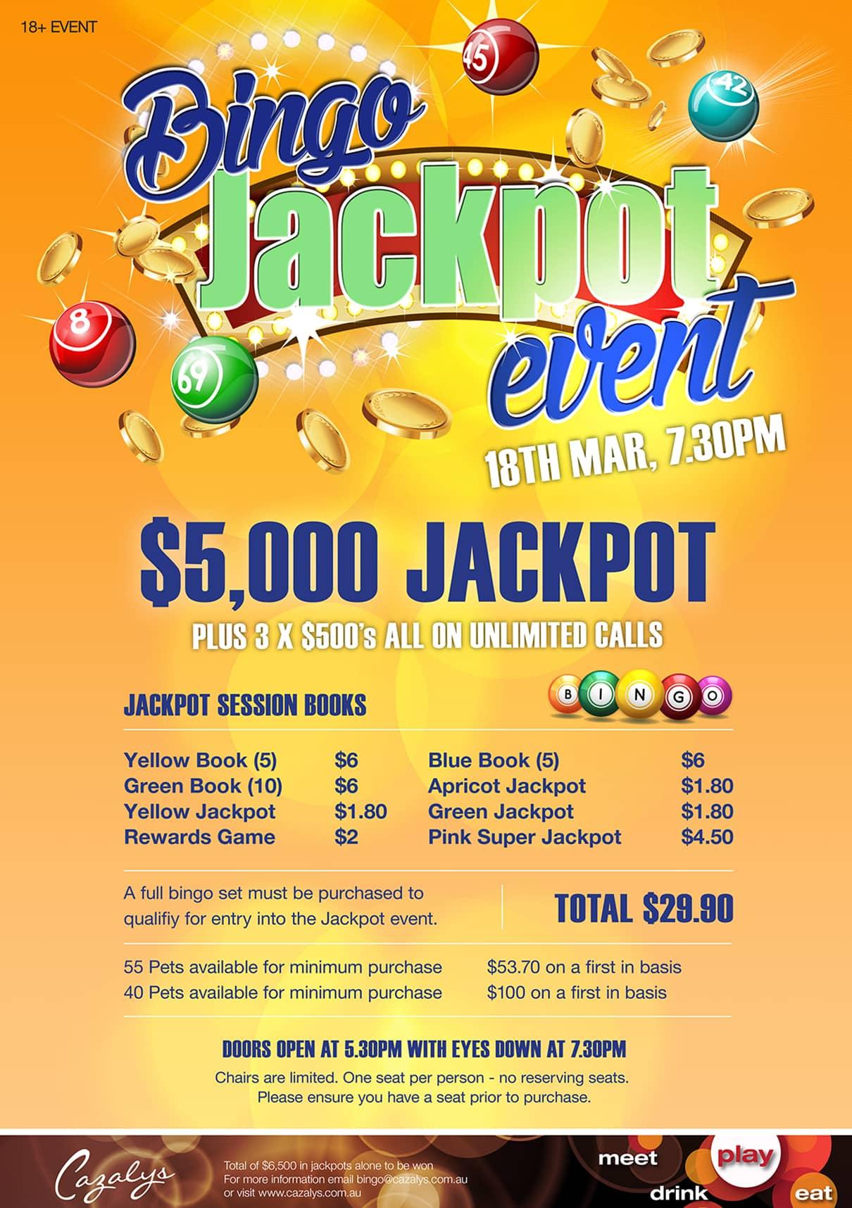 Bingo Jackpot March 18