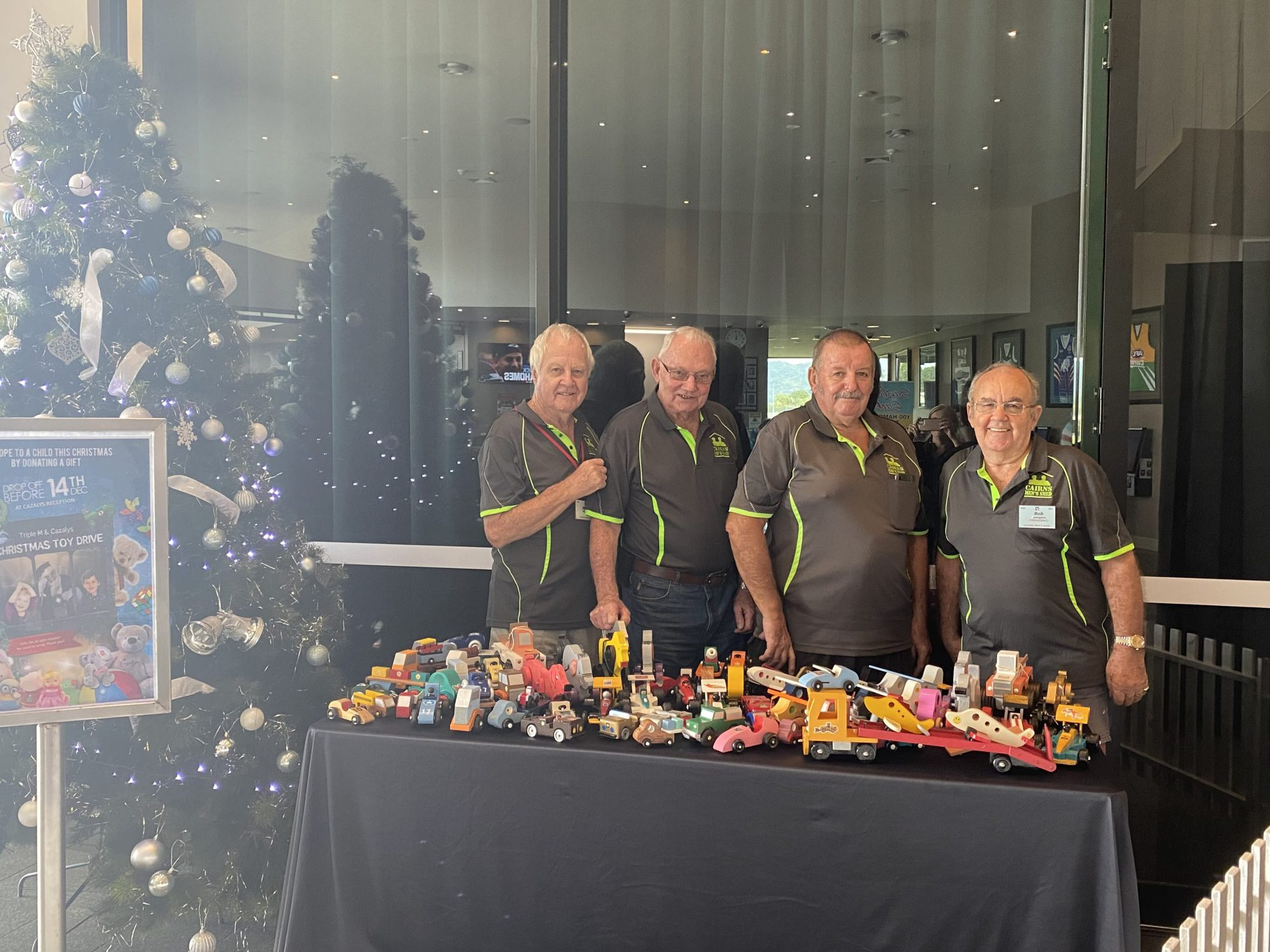 CAIRNS MENS SHED DONATING